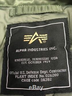 Véritable Alpha Industries Core Flight Cwu 45 Sage Vert Blouson