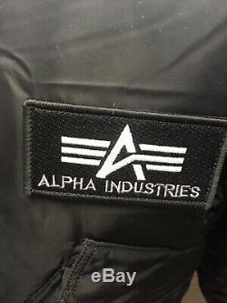 Véritable Alpha Industries Core Flight Cwu Bomber Veste Noire