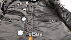Veste À Capuchon Pour Hommes Alpha Industries Slim Fit N-3b Altitude Parka Brun Alaska