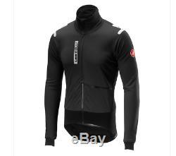 Veste Alpha Ros Pour Homme Castelli, Cyclisme, Noir, Moyen Authentic 350 $ Rv