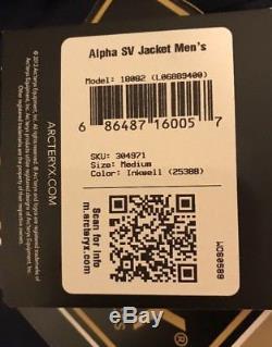 Veste Alpha Sv Gore-tex Pro Pour Hommes Arc'teryx Des Territoires Du Nord-ouest. Moyen. Encrier (bleu) (749 $)