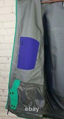 Veste Arcteryx Alpha Hommes Med Goretex Pro Shell Turquoise Drop Hood Powder Skirt