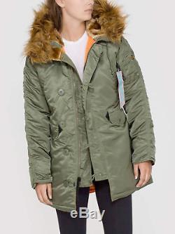 Veste D'hiver À Capuche Parker Hood Pour Femme Alpha Industries N3b Vf59