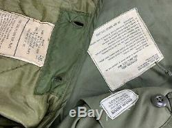 Veste De Campagne + Doublure M65 1967 De L'armée Américaine, Alpha Medium Reg