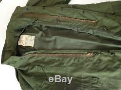 Veste De Campagne M65 Army Olive Green Des Années 1970 Moyenne, Alpha Industries