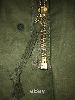 Veste De Campagne M-65 De L'armée Américaine Alpha Des Années 73, Og-107, Époque Vietnamienne: Med / Reg