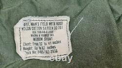 Veste De Combat D'origine Américaine 1968 Olive Green 107 Alpha M65 Medium S #1