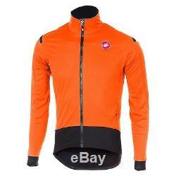 Veste De Cyclisme Sur Route Hiver Castelli Alpha Ros Light (orange / Noire)