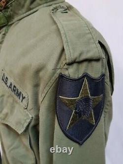 Veste Normale 1973 De L'armée Américaine Olive Green 107 Alpha M65 Medium Reg #12