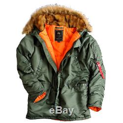 Veste Parka Alpha Coat Pour Femme Alpha Industries 113007 N3b Vf 59 Pour Femme Nouveau