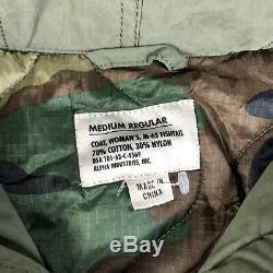 Veste Parka En Queue De Poisson Alpha Industries - Camouflage Moyen - Capuche Fourrure - Vert