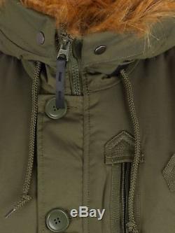 Veste Polaire À Capuchon Pour Homme Alpha Industries, Vert