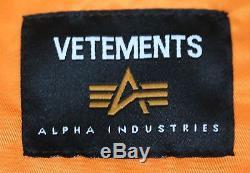 Vetements X Alpha Industries Veste Bomber Wendbare Moyenne
