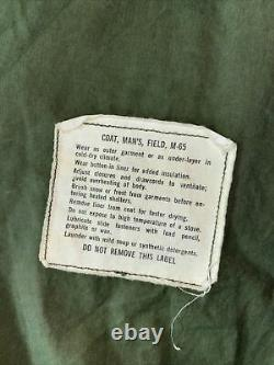 Vietnam Guerre Era U. S. Military M-65 Og-107 Field Coat Alpha Industries Med Short