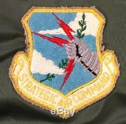 Vintage 1978 Alpha Industries Inc. Veste Flyers Medium Pour Commandement Aérien