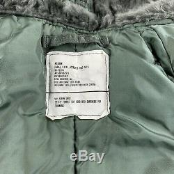 Vintage 70s Alpha Industries N-2b Vol Militaire Bomber Jacket Taille Moyenne
