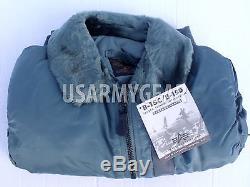 Vintage Alpha Made In USA Nouvelle Veste De Vol Pilote Oldstock B-15 Us Air Force