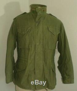 Vintage Industries Alpha M-65 Militaire Temps Froid Terrain Veste Made In USA Medium