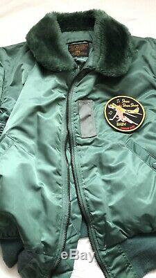 Vintage Mens Alpha Industries Blouson Aviateur B-15d Green Medium 40 Chest