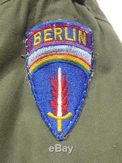 Vintage Veste De Campagne Berlin Brigade M-65 De L'armée Américaine, 1967, Long Med, Ind.