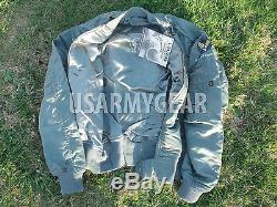 Vintage Veste Imperméable Militaire Par Temps Froid Alpha Ind. L-2a L-2b