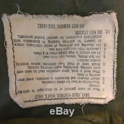 Vtg 1973 Veste De Combat Pour Hommes De L'armée Américaine, Moyenne, Standard Alpha Industries M-65 Avec Doublure