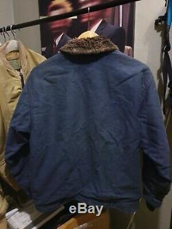 Vtg Houston N-1 Jacket Pont. Pas Buzz Ricksons Alpha Industries Réelles Mccoys