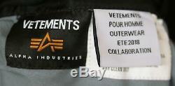 X Alpha Industries Vetements Wendbare Bomber Jacket Medium